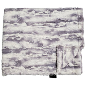 NEW! Marble Grey Minky Blanket
