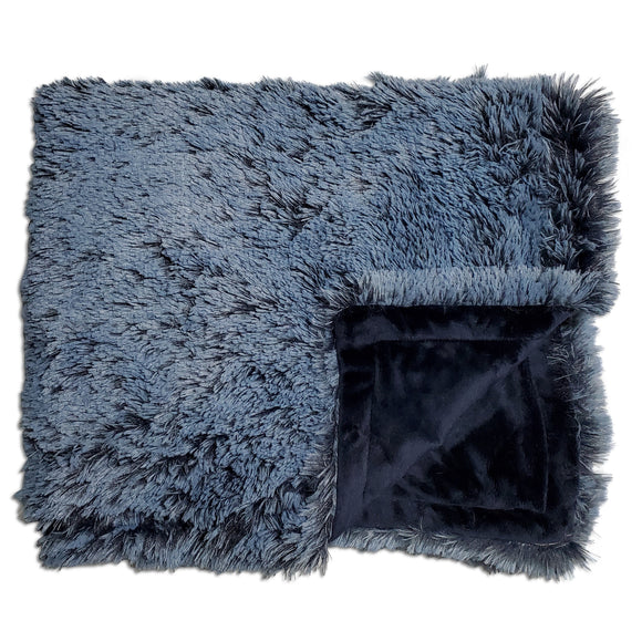 NEW! Shaggy Navy Minky Blanket