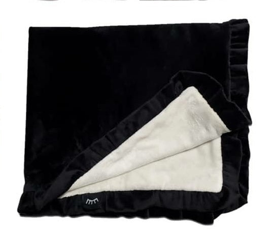 NEW! Ruffle Black&Cream Minky Blanket
