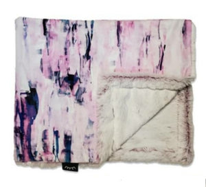 NEW! Abstract Pink Minky Blanket