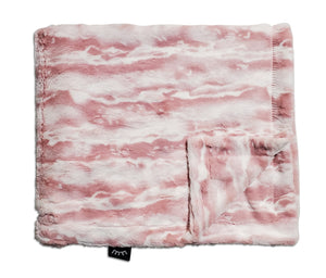 NEW! Marble Blush Minky Blanket