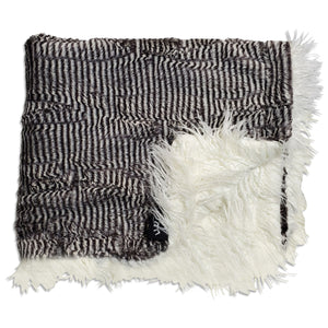NEW! Llama Stripes Minky Blanket