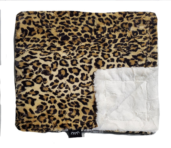 NEW! Leopard Tan Minky Blanket