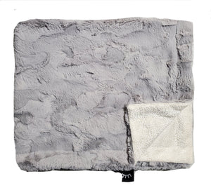 NEW! Grey Cream Sparkle Minky Blanket