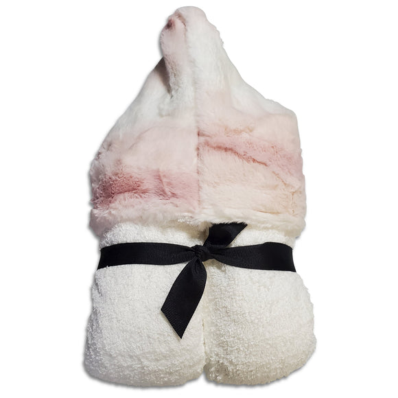 NEW! Ombre Blush Minky Hooded Towel