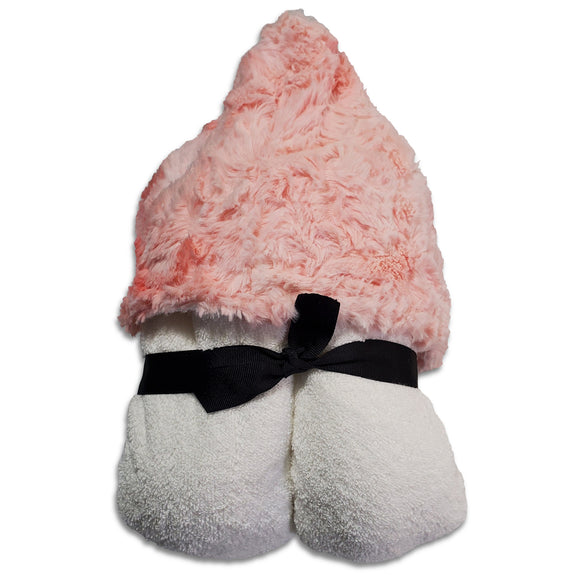 Coral Crush White Hooded Towel