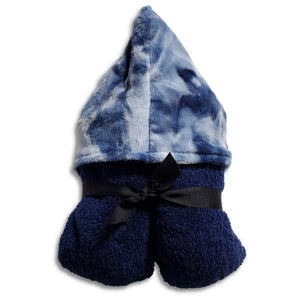 NEW! Navy Tie Dye Minky Hooded Towel