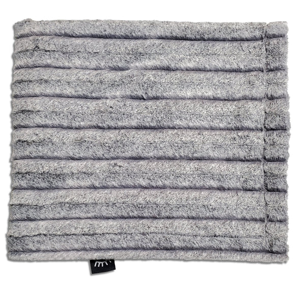 Frosted Chinchilla Silver Minky Blanket