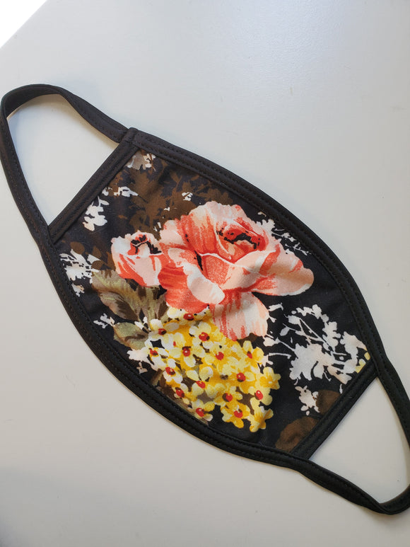 NEW! Floral Face Mask - Adults