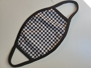 NEW! Houndstooth Face Mask - Adults & Kids
