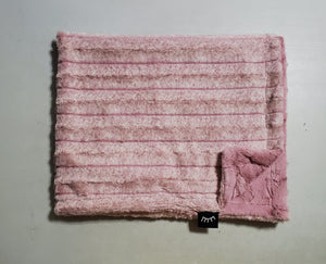 NEW! Frosted Pink Minky Blanket