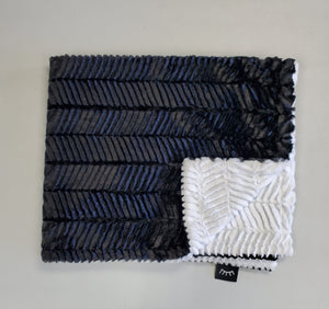 NEW! Ziggy Black & White Minky Blanket