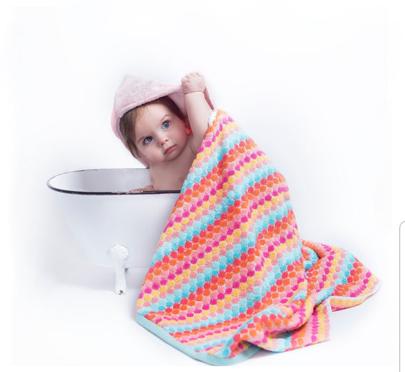 NEW! DOTS Hooded Towel