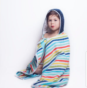 NEW! STRIPES Hooded Towel