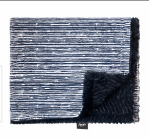 NEW! Navy Stripes Minky Blanket