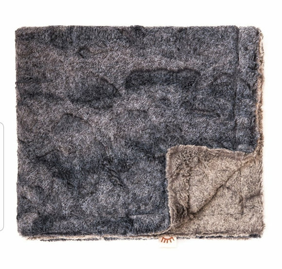 Denim Grey Minky Blanket