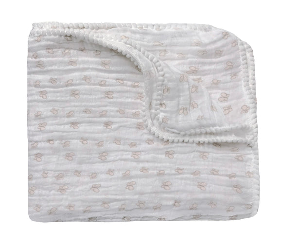 Sweet Butterfly Summer Blanket / Swaddle