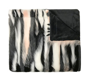 Lux Blush Faux Fur Blanket
