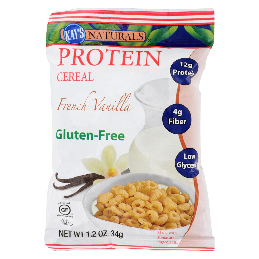 Kay's Naturals Protein Cereal French Vanilla - 1.2 Oz - Case Of 6