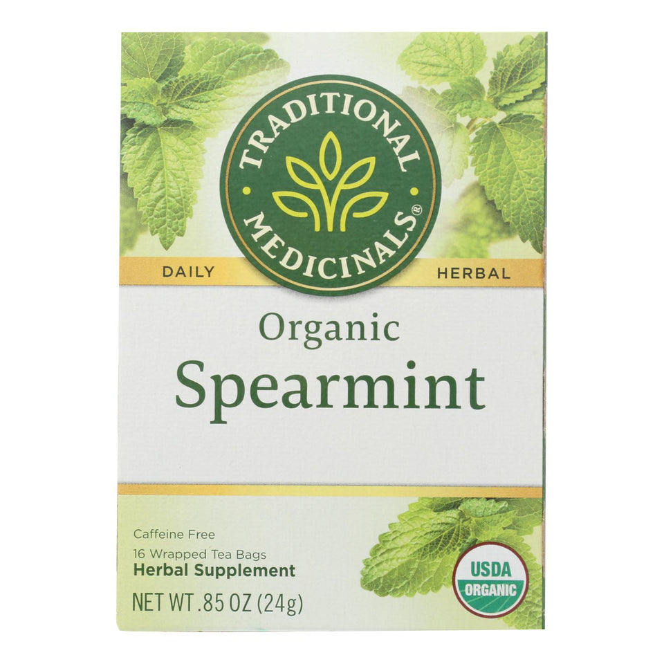Traditional Medicinals Organic Tea - Spearmint 16 Bags