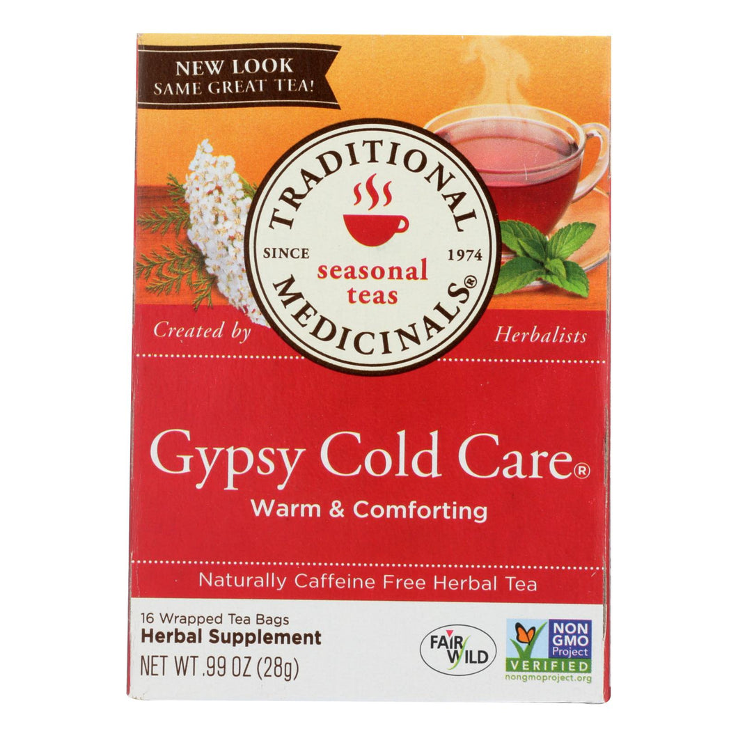 Traditional Medicinals Gypsy Cold Care Herbal Tea - Caffeine Free - 16 Bags