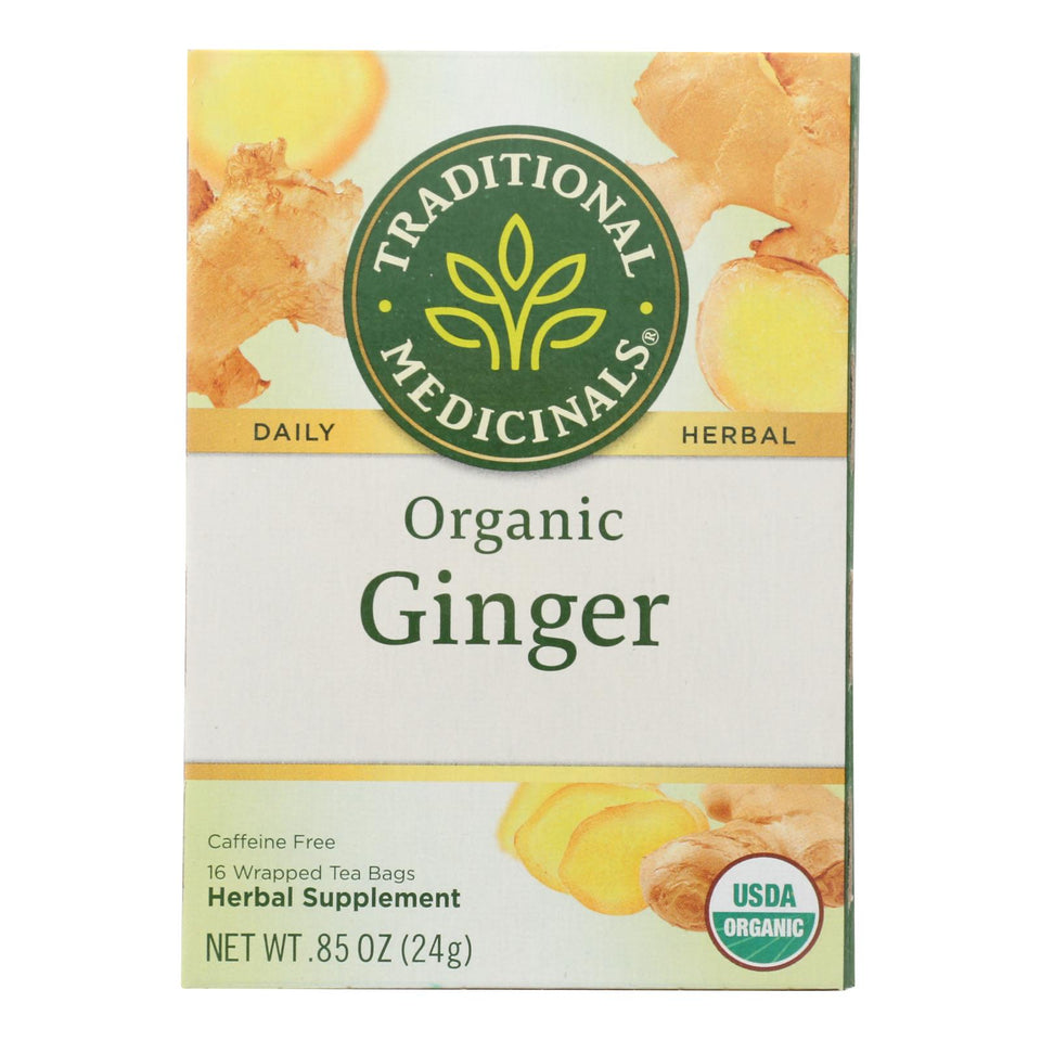 Traditional Medicinals Organic Ginger Tea - 16 Bags