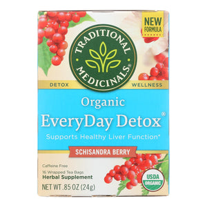 Traditional Medicinals Everyday Detox Herbal Tea - Case Of 6 - 16 Bags