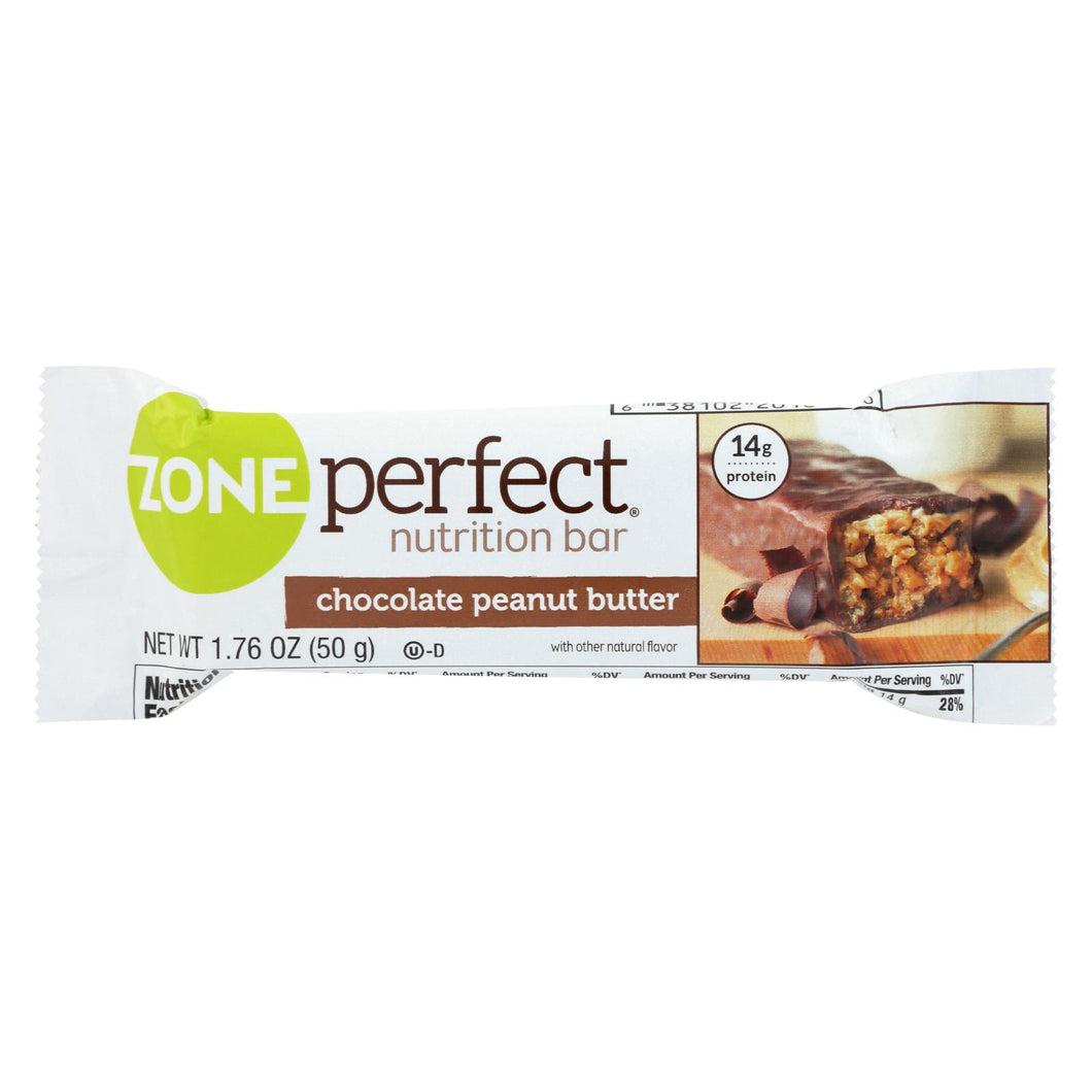 Zone - Nutrition Bar - Chocolate Peanut Butter - Case Of 12 - 1.76 Oz.