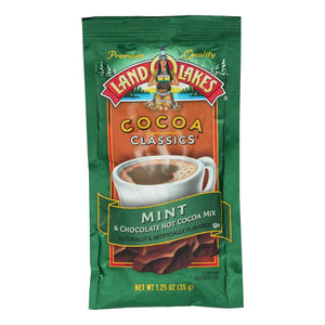 Land O Lakes Cocoa Classic Mix - Mint And Chocolate - 1.25 Oz - Case Of 12