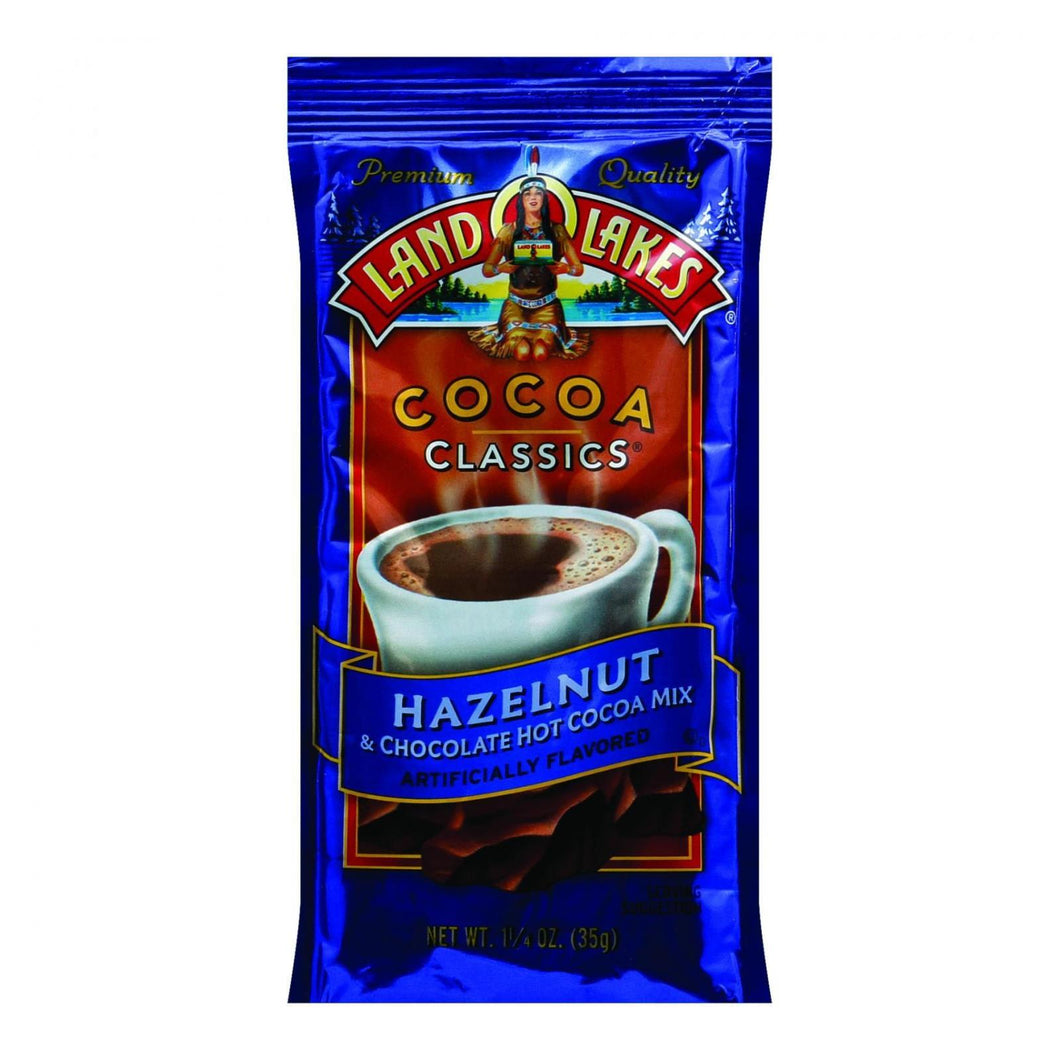 Land O Lakes Cocoa Classic Mix - Hazelnut And Chocolate - 1.25 Oz - Case Of 12