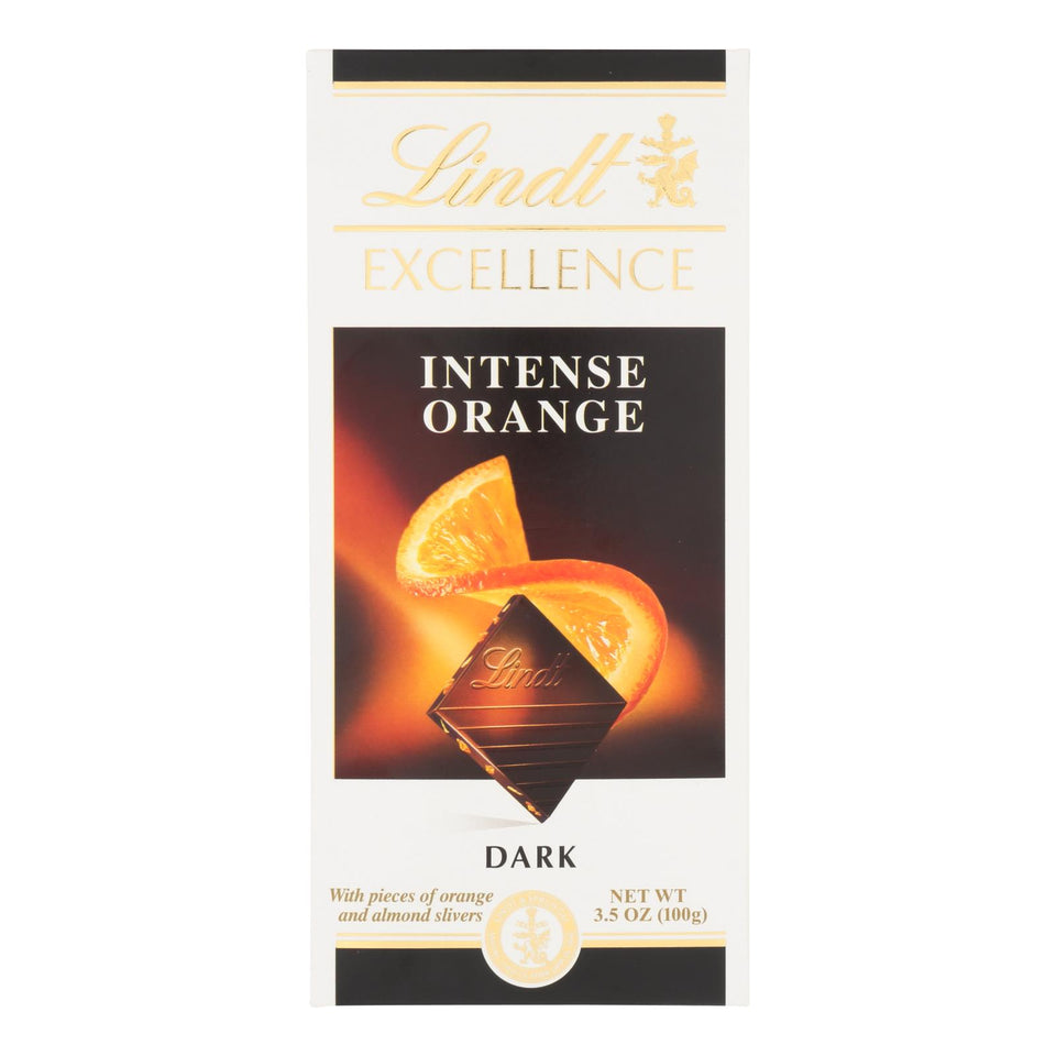 Lindt - Bar Chocolate Excel Orange - Case Of 12-3.5 Oz