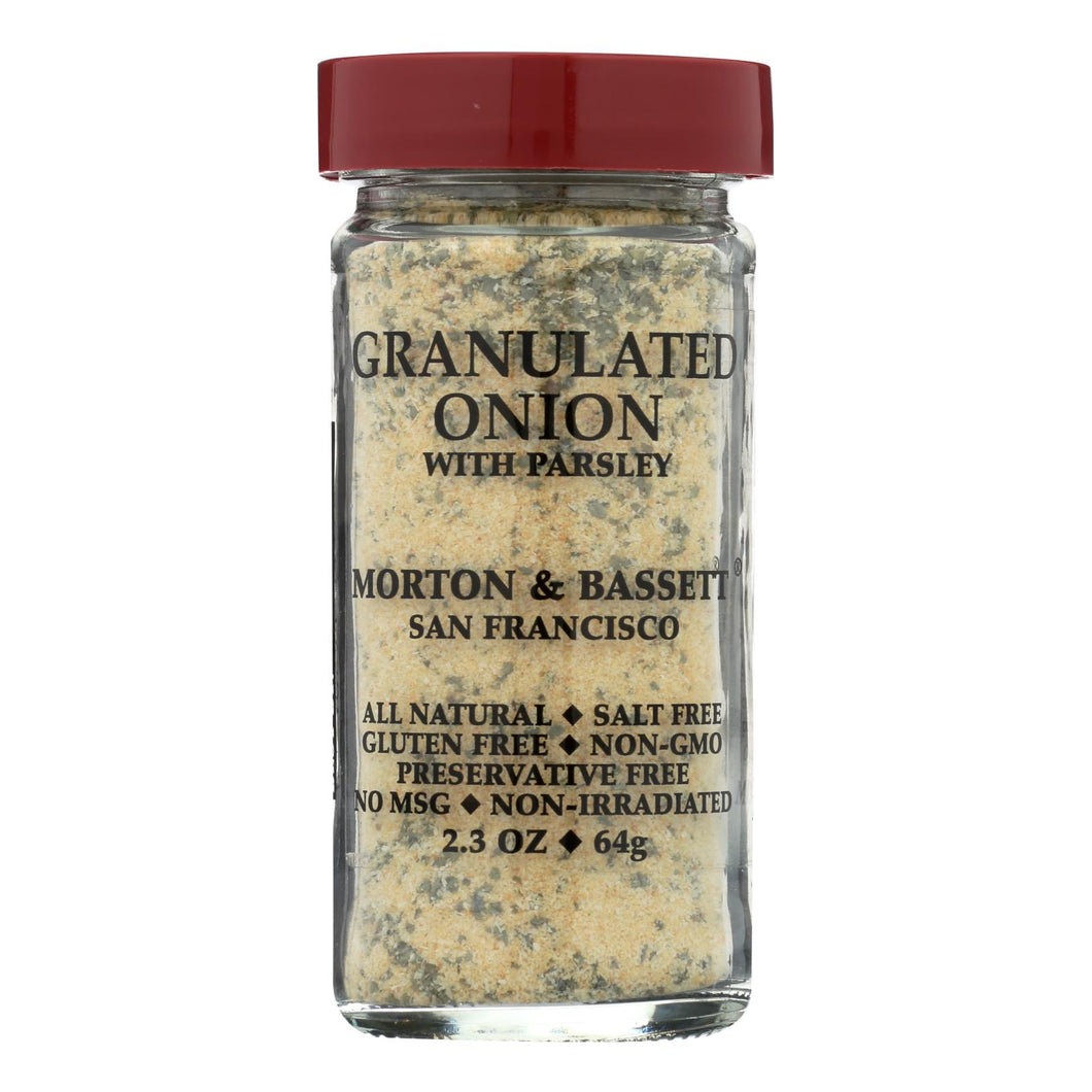 Morton And Bassett Seasoning - Onion With Parsley - Granulated - 2.3 Oz - Case Of 3