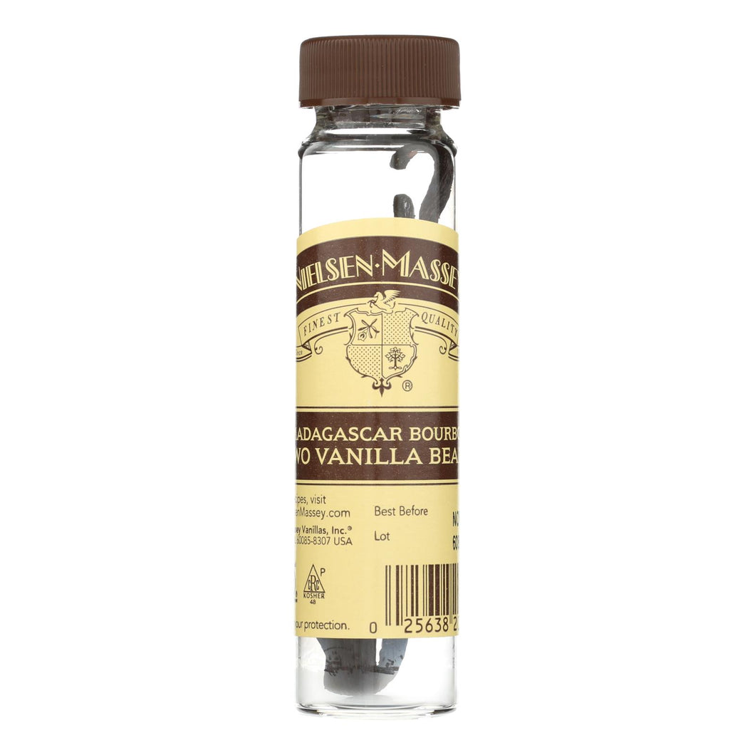 Nielsen-massey Whole Vanilla Beans - Madagascar Boubon - 2 Count (pack Of 3)