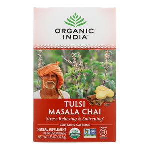 Organic India Tulsi Tea Chai Masala - 18 Tea Bags - Case Of 6