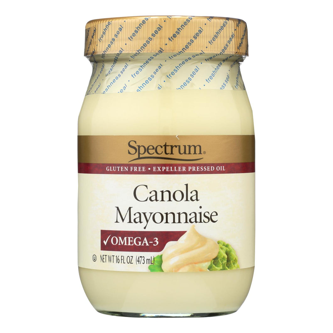 Spectrum Naturals Mayonnaise - Canola - 16 Oz (pack Of 3)