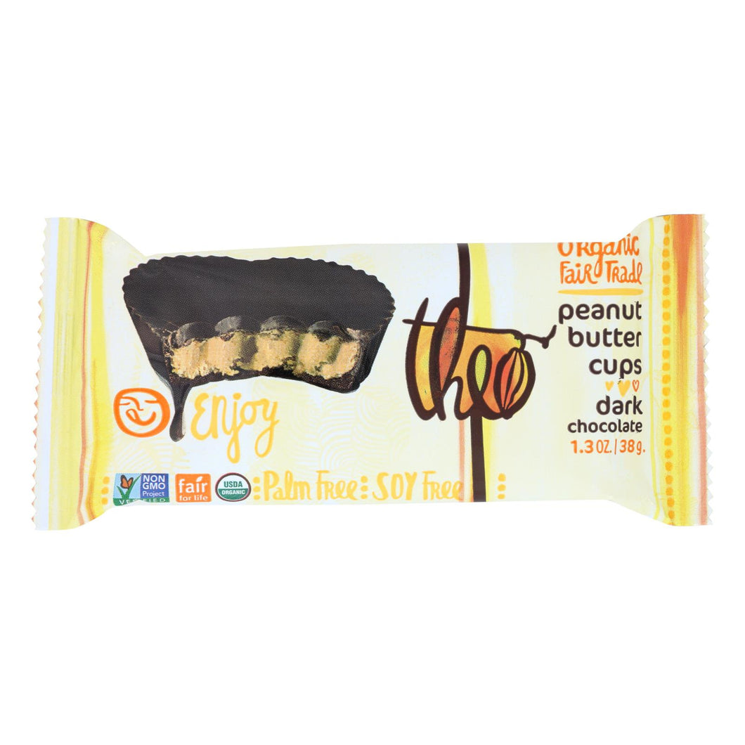 Theo Chocolate Peanut Butter Cups - Dark Chocolate - 1.3 Oz - Case Of 12