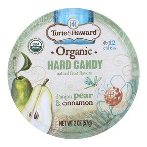 Torie And Howard Organic Hard Candy - Danjou Pear And Cinnamon - 2 Oz - Case Of 8
