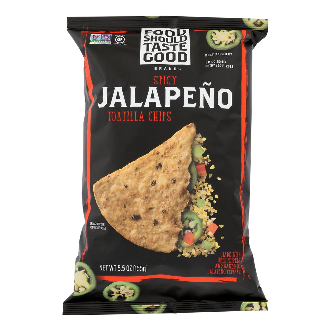 Food Should Taste Good Tortilla Chips - Jalapeno - 5.5 Oz - Case Of 12
