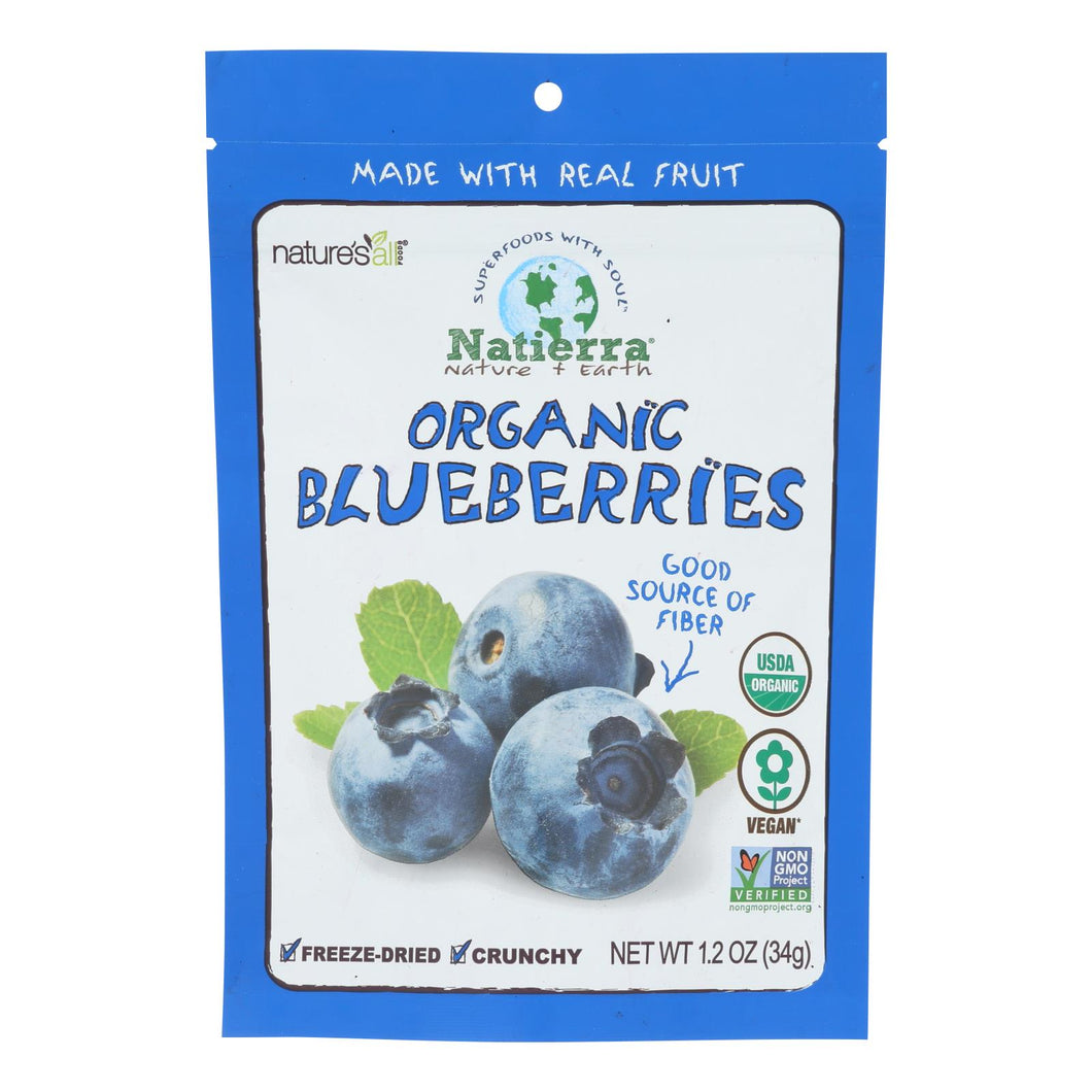 Natierra Fruit - Organic - Freeze Dried - Blueberries - 1.2 Oz - Case Of 12