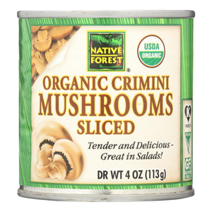 Native Forest Mushrooms - Organic - Crimini - Sliced - 4 Oz - Case Of 12
