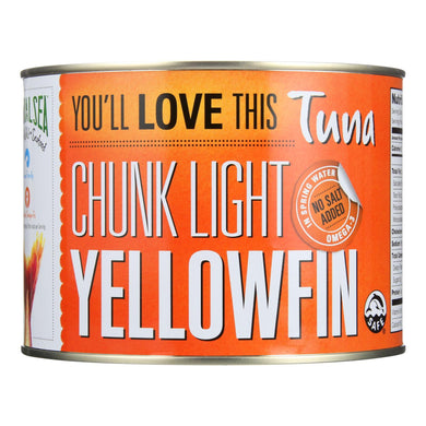 Natural Sea Tuna - Yellowfin - Chunck Light - No Salt Added - 66.5 Oz - Case Of 6