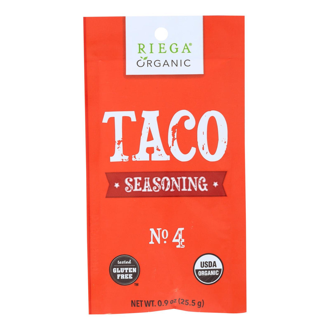 Riega Foods Seasoning - Organic - Taco - No. 4 - .9 Oz - Case Of 8