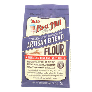 Bob's Red Mill - Artisan Bread Flour - 5 Lb - Case Of 4