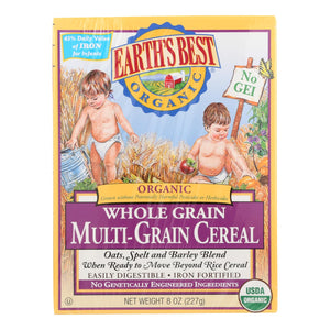 Earth's Best Organic Whole Grain Multi - Grain Infant Cereal - Case Of 12 - 8 Oz.