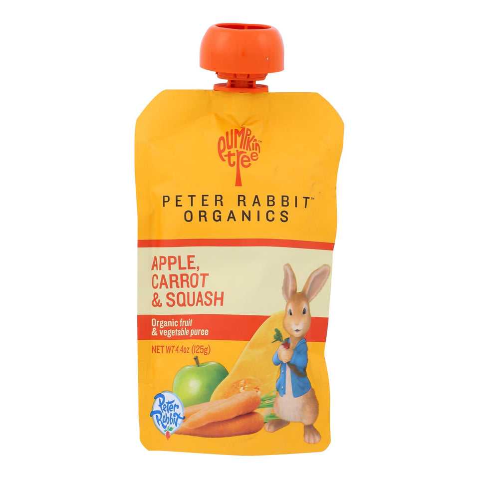 Peter Rabbit Organics Veggie Snacks - Carrot, Squash And Apple - Case Of 10 - 4.4 Oz.