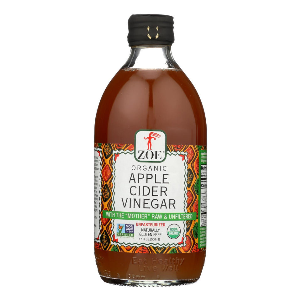 Zoe - Apple Cider Vinegar - Case Of 6 - 17 Fl Oz.