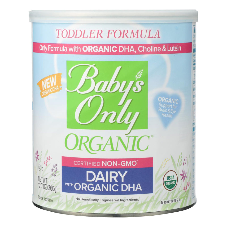 Babys Only Organic Toddler Formula - Organic - Dairy - Dha And Ara - 12.7 Oz - Case Of 6