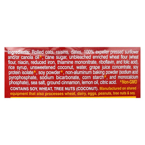 Lauras Wholesome Junk Food Cookies - Oatmeal Raisin - 7 Oz - Case Of 6