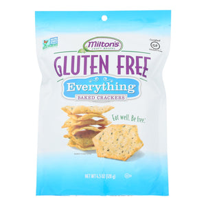 Miltons Gluten Free Baked Crackers - Everything - Case Of 12 - 4.5 Oz.