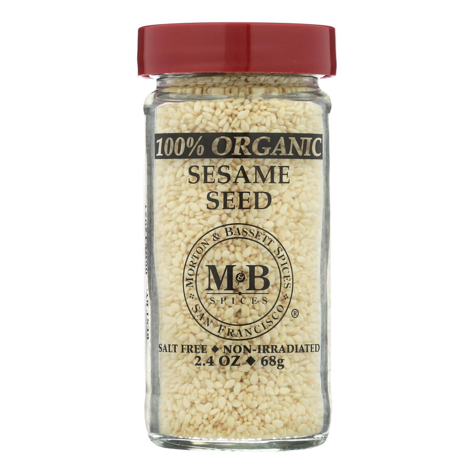 Morton And Bassett 100% Organic Seasoning - Sesame Seed - 2.4 Oz - Case Of 3